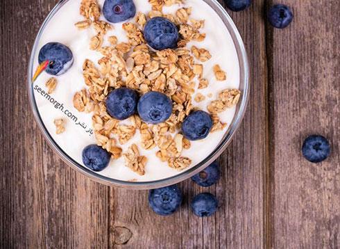 ماست یونانی یک صبحانه رژیمی عالی برای کاهش وزن - پروتئین : هر 6 اونس  17 گرم