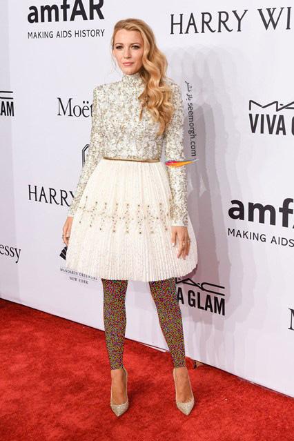 مدل لباس بلیک لیولی Blake Lively در مراسم بنیاد تحقیقات ایدز amfAR