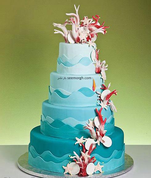 کیک عروسی به رنگ سال 2016 - مدل شماره 10