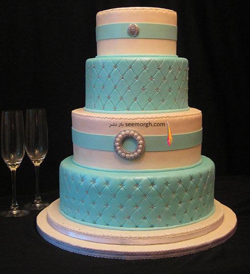 کیک عروسی به رنگ سال 2016 - مدل شماره 1