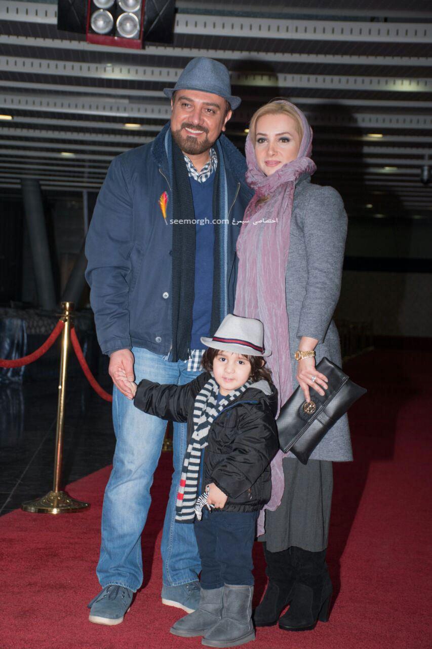 مدل لباس برزو ارجمند و همسرش در هفتمین روز سی و چهارمین جشنواره فیلم فجر