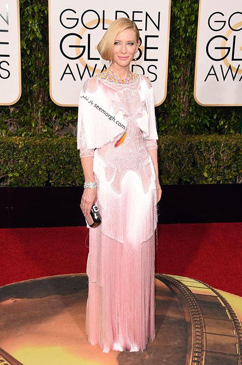 مدل لباس کیت بلانشت Cate Blanchett در گلدن گلوب Golden Globes 2016 از برند Givenchy
