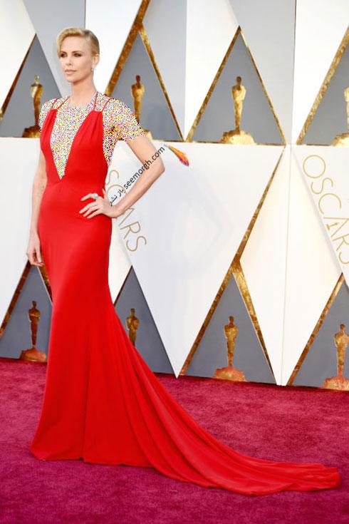 مدل لباس چارلیز ترون Charlize Theron در اسکار 2016