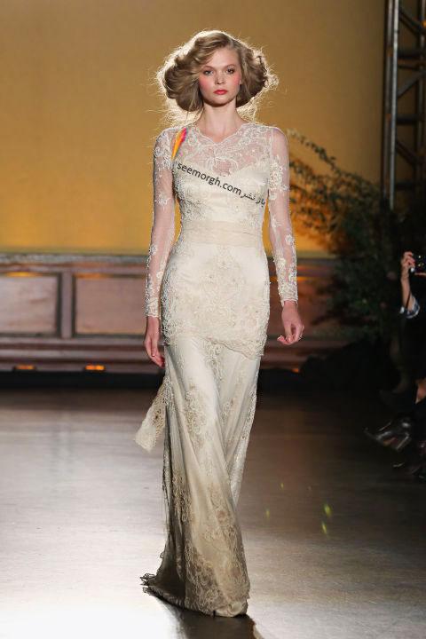 لباس عروس بلند در هفته مد لندن - مدل شماره 2