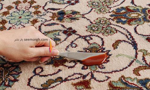 تمیز کردن لکه های مختلف فرش