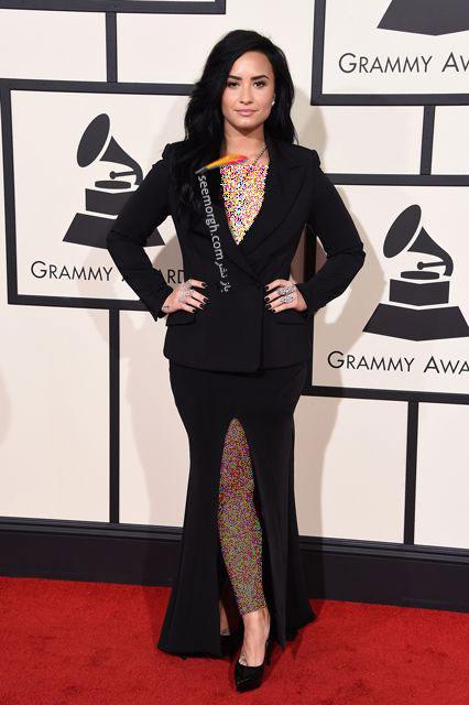 مدل لباس دمی لوواتو Demi Lovato در جوایز گرمی Grammy 2016