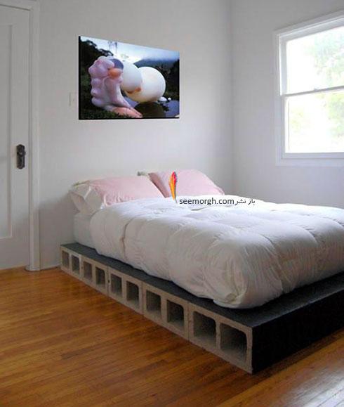 با بلوک های سیمانی یک تخت خواب درست کنید