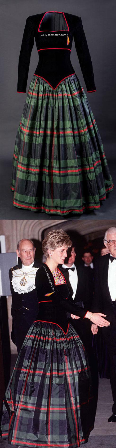 لباس مشکی پرنسس دایانا Diana از طراح معروف کاتری واکر CATHERINE WALKER