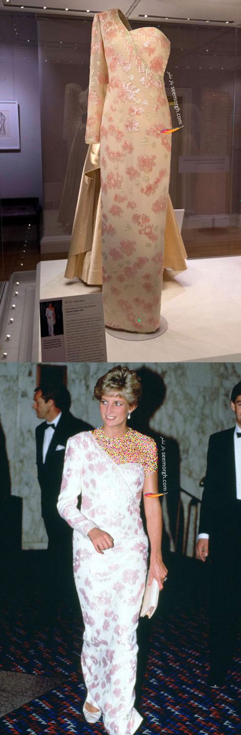 پیراهن طرح دار پرنسس دایانا Diana از طراح معروف کاتری واکر CATHERINE WALKER