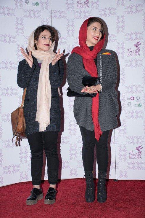 مدل لباس بازیگران فیلم دختر در هشتمین روز سی و چهارمین جشنواره فیلم فجر - 2
