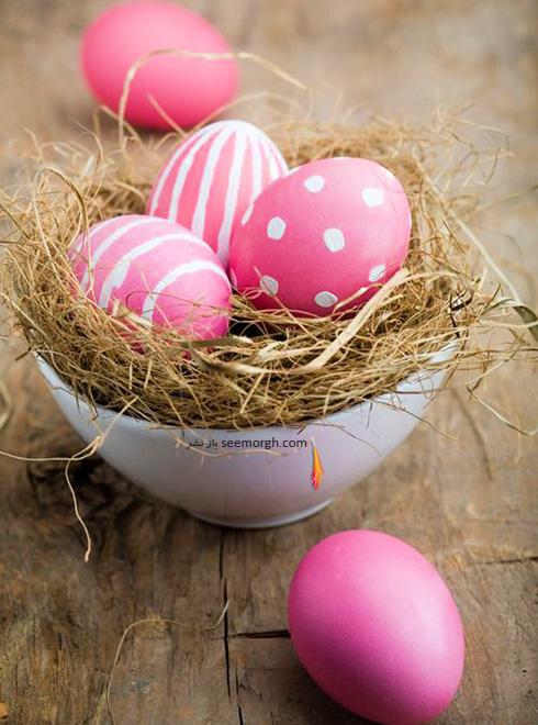 تزیین تخم مرغ هفت سین با گل های طبیعی - مدل شماره 7