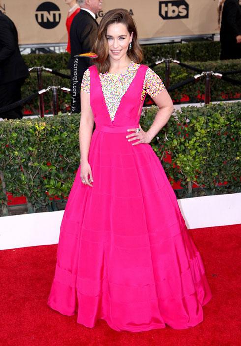 مدل لباس Emilia Clarke امیلیا کلارک در مراسم SAG Awards 2016
