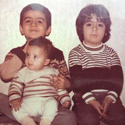 عکس کودکی فرزاد حسنی و برادرش فرهاد