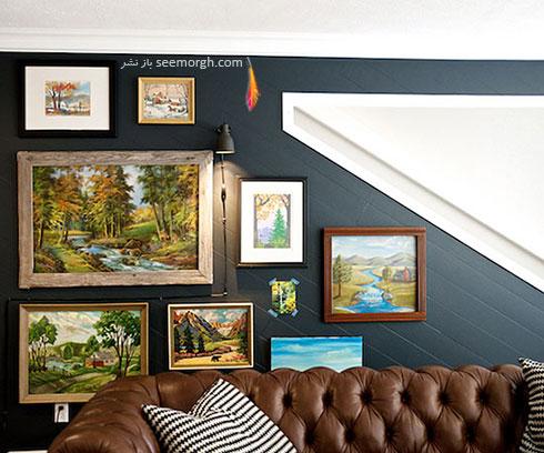 در نصب تابلو روی دیوارهای زاویه دار، حتما به زاویه دیوار دقت کنید