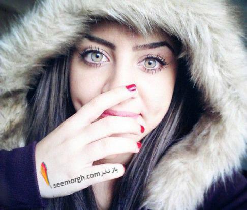 رنگ چشم خاص دختر عرب