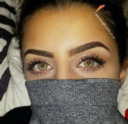 چشم های دختر عرب با رنگ خاص