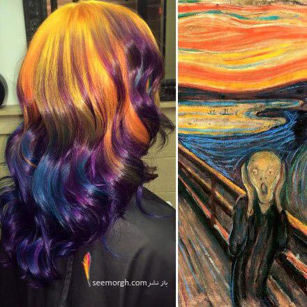 رنگ موی خاص با الهام از نقاشی 1