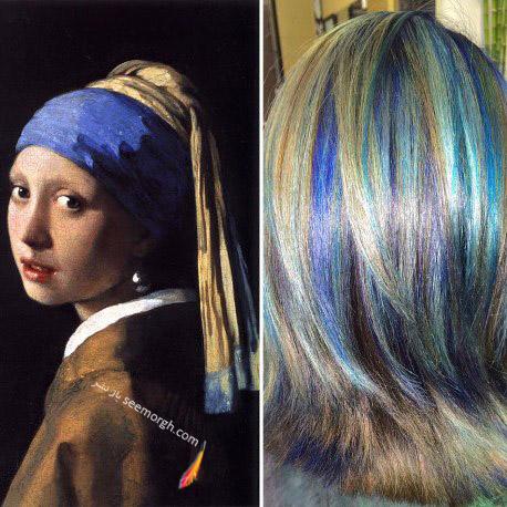 رنگ موی خاص با الهام از نقاشی 2