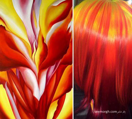 رنگ موی خاص با الهام از نقاشی 3