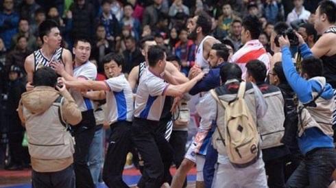 عکس زد و خورد حامد حدادی در چین