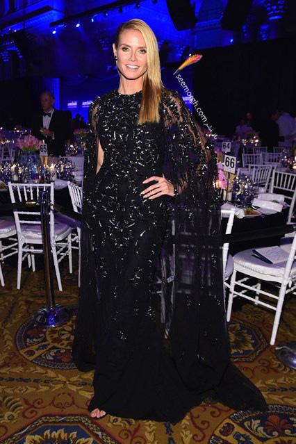 مدل لباس هایدی کلوم Heidi Klum در مراسم بنیاد تحقیقات ایدز amfAR