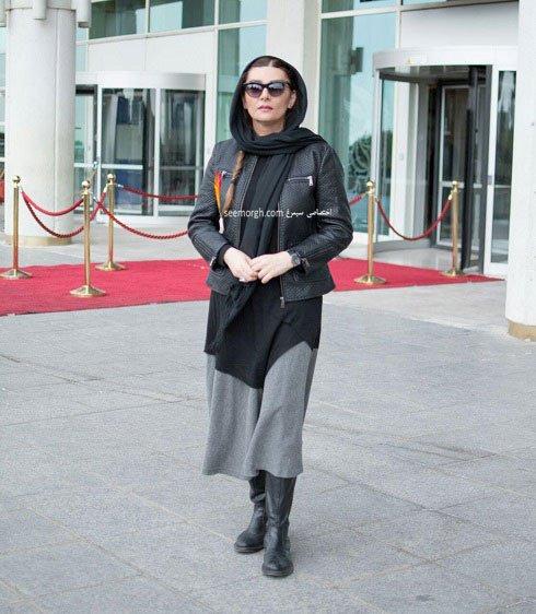 مدل لباس هنگامه قاضیانی در نهمین روز سی و چهارمین جشنواره فیلم فجر