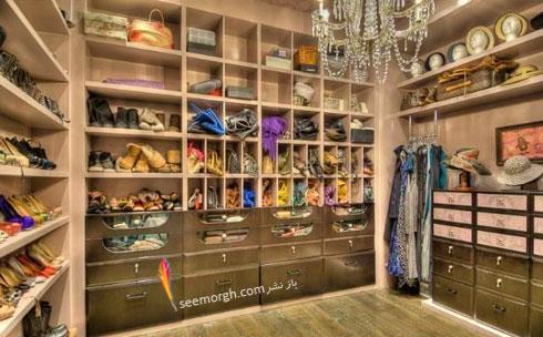 دکوراسیون اتاق لباس های هیلاری داف Hilary Daff