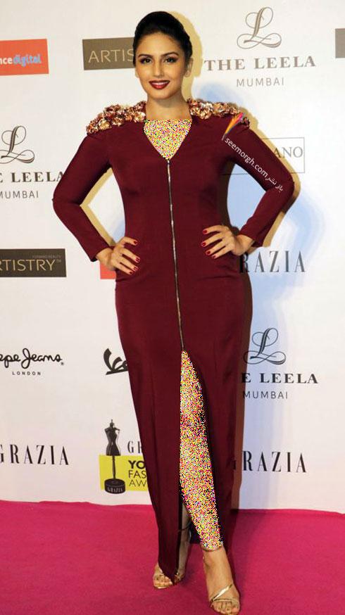 مدل لباس هما قریشی Huma Qureshi روی فرش قرمز بالیوود - مدل شماره 6