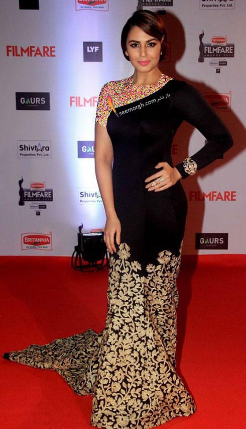 مدل لباس هما قریشی Huma Qureshi روی فرش قرمز بالیوود - مدل شماره 9
