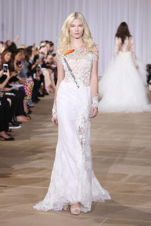 لباس عروس بلند در هفته مد لندن - مدل شماره 3