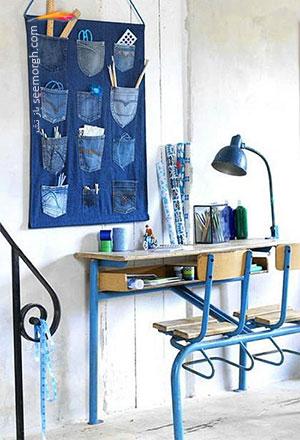دکوراسیون داخلی خانه تان را با شلوار جین تزیین کنید!!