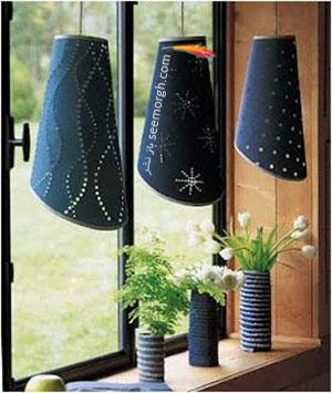 شیدهایی با طرح جین برای آباژور و چراغ های سقفی اتاق تان درست کنید
