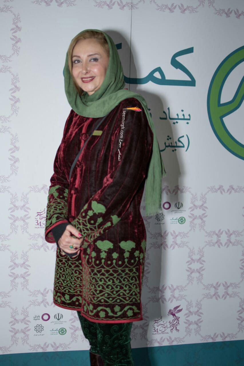 مدل لباس کتایون ریاحی در اولین روز سی و چهارمین جشنواره فیلم فجر