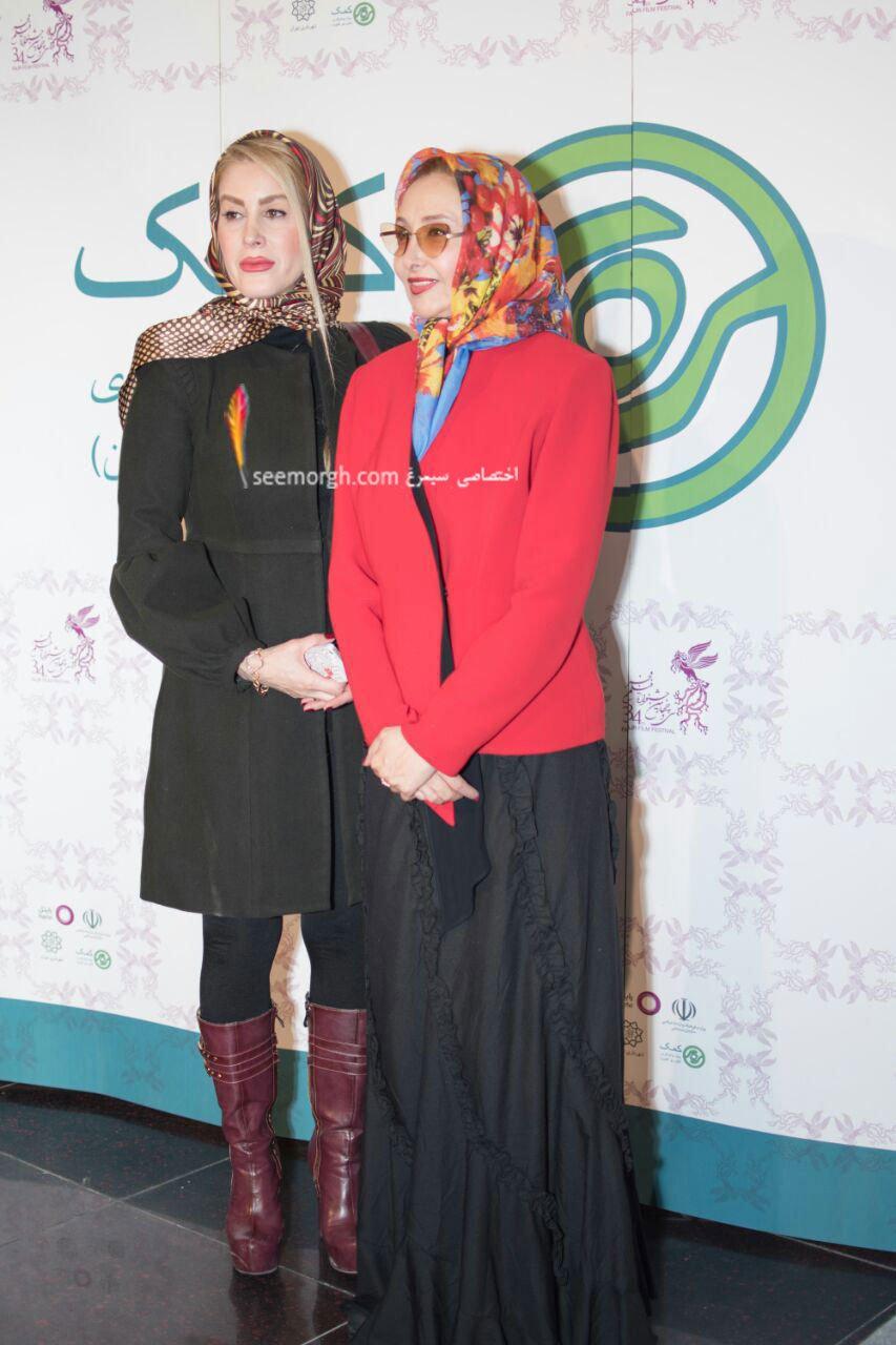 مدل لباس کتایون ریاحی در دومین روز سی و چهارمین جشنواره فیلم فجر