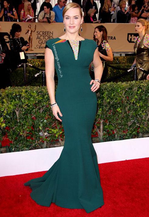 مدل لباس kate winslet کیت وینسلت در مراسم SAG Awards 2016