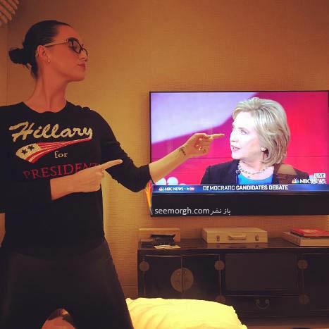 حمایت جالب کیتی پری از هیلاری کلینتون! عکس
