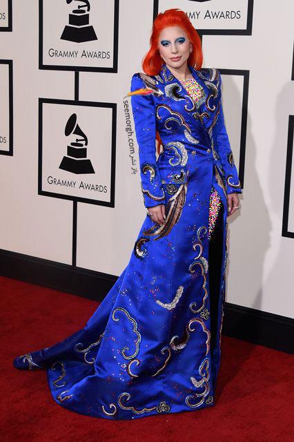 مدل لباس لیدی گاگا Lady Gaga در جوایز گرمی Grammy 2016