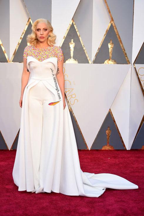 مدل لباس لیدی گاگا Lady Gaga در اسکار 2016