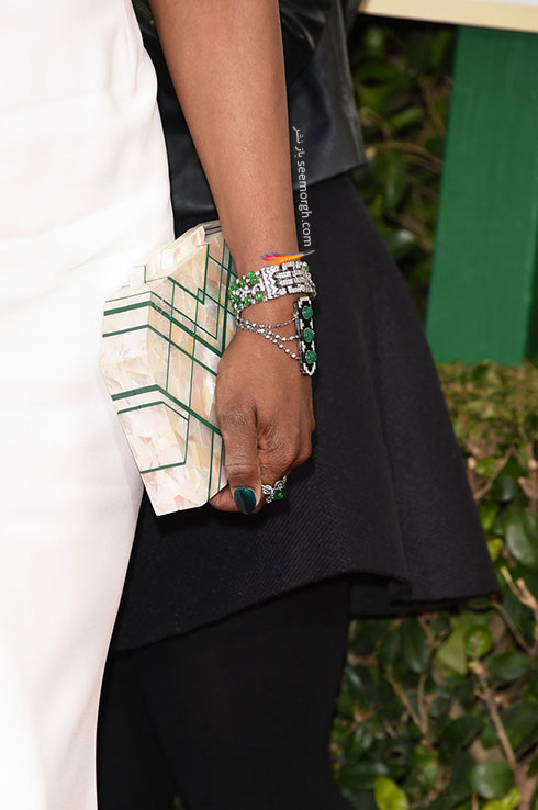 دستبند لاورن کاکس Laverne Cox در گلدن گلوب Golden Globes 2016