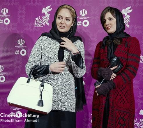 مدل لیلا حاتمی و مهناز افشار در سی و چهارمین جشنواره فیلم فجر