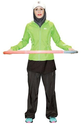 حرکت یازدهم هولاهوپ برای کوچک کردن شکم و پهلو : هولاهوپ تعادلی