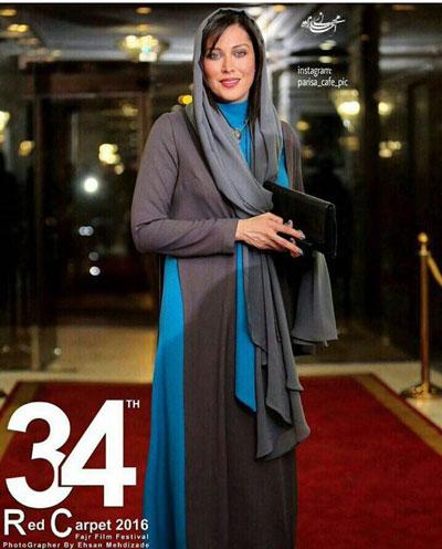 مدل لباس مهتاب کرامتی در اختتامیه سی و چهارمین جشنواره فیلم فجر