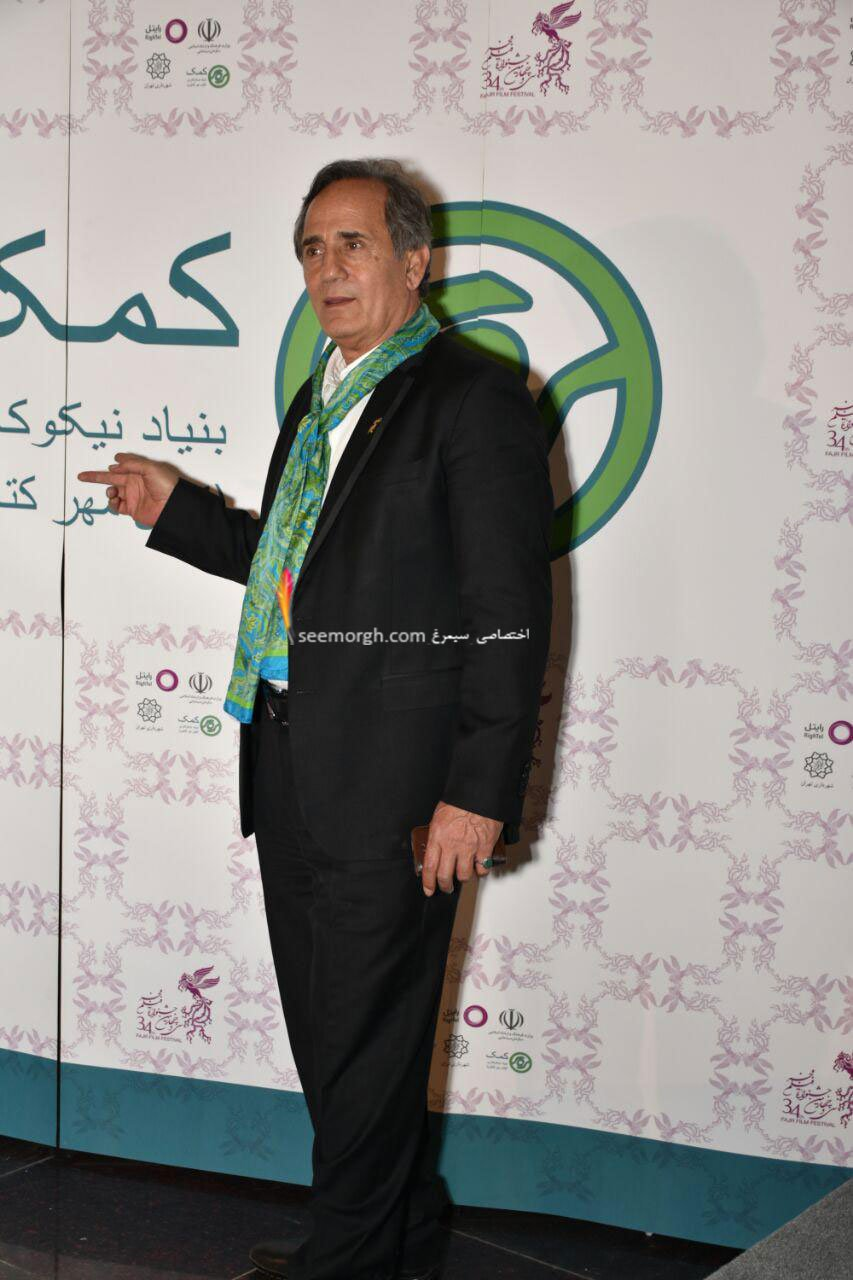 مدل لباس مجید مظفری در اولین روز سی و چهارمین جشنواره فیلم فجر