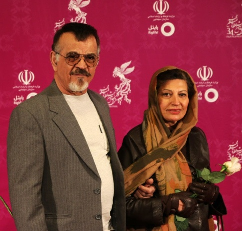 مهدی فخیم زاده در کنار همسرش