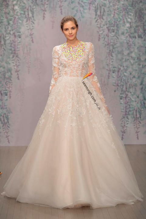 لباس عروس بلند در هفته مد لندن - مدل شماره 4