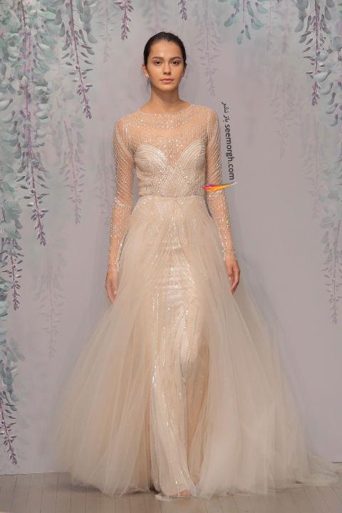 لباس عروس بلند در هفته مد لندن - مدل شماره 6