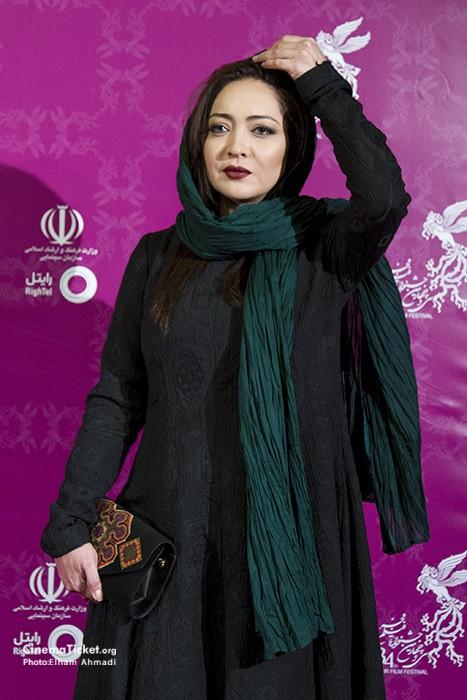 مدل نیکی کریمی در سی و چهارمین جشنواره فیلم فجر