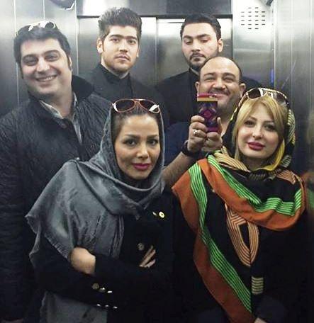 عکس مهران غفوریان و همسرش در کنار نیوشا ضیغمی