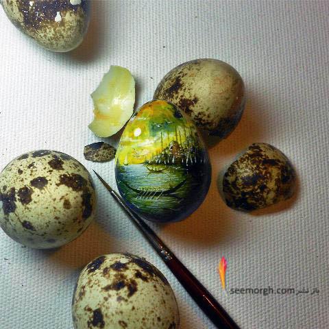 نقاشی برروی تخم پرندگان