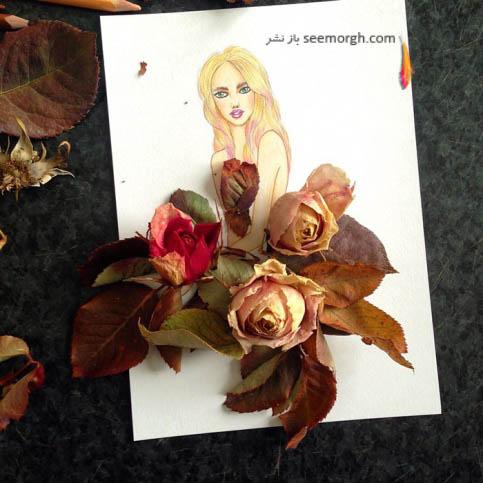 گل رز خشک شده
